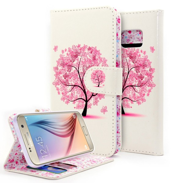 Galaxy S7 Wallet Butterfly tree