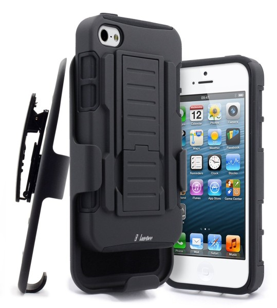 iPhone 5 & 5S & SE Holster Military Black