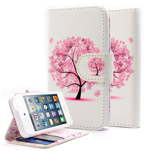 iPhone 4 & 4S Wallet Butterfly tree