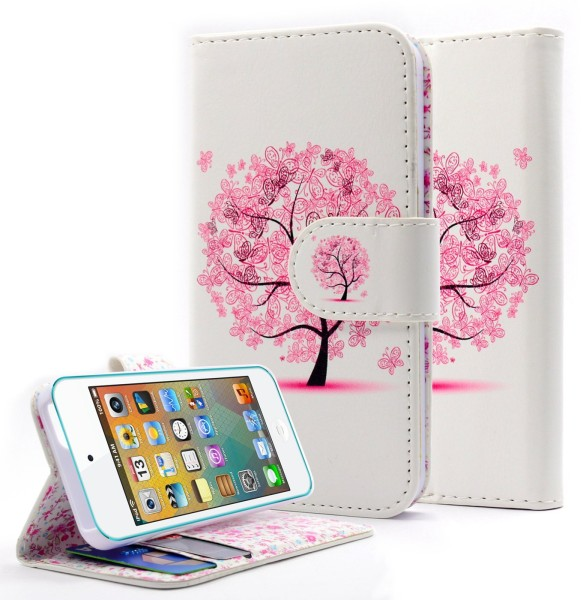 iPhone 5 & 5S & SE Wallet Butterfly tree