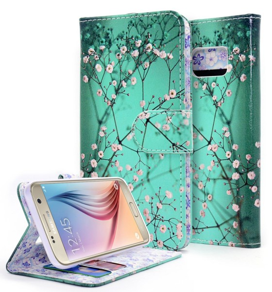 Galaxy S7 Wallet Plum Blossom