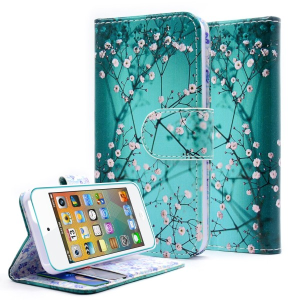 iPhone 5 & 5S & SE Wallet Plum Blossom