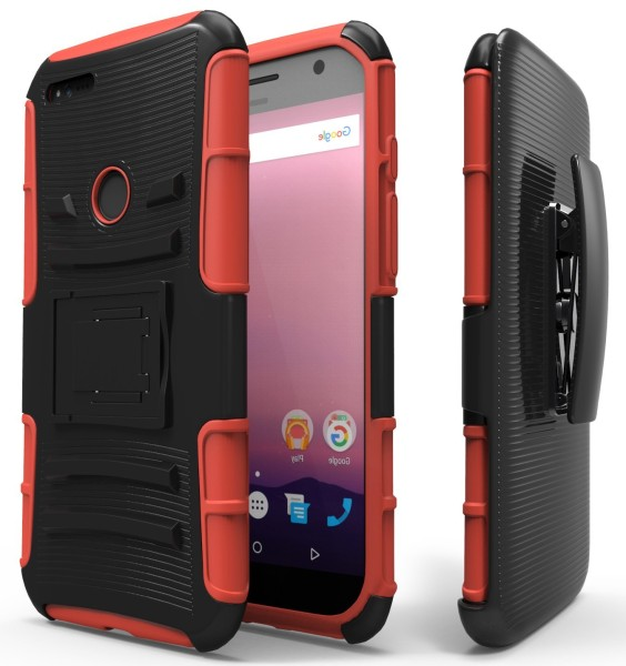 Google Pixel Holster Combo with Belt Clip – Red