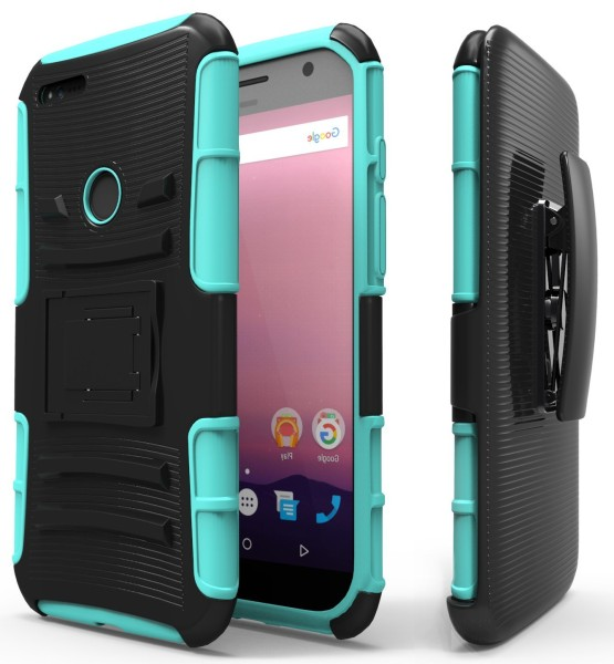 Google Pixel XL Holster Combo with Belt Clip – Teal