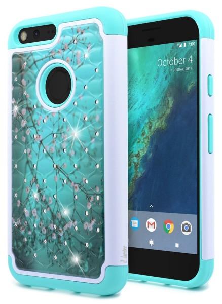 Google Pixel Hybrid Studded Rhinestone Plum Blossom