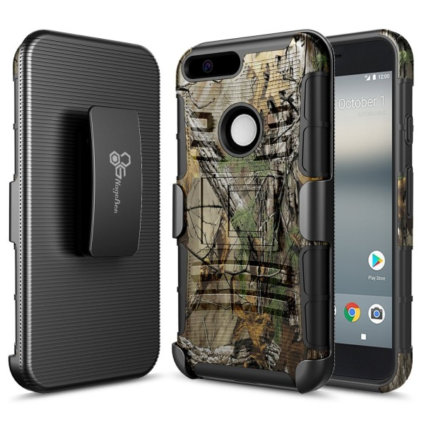 Google Pixel XL Holster Combo with Belt Clip – Camouflage