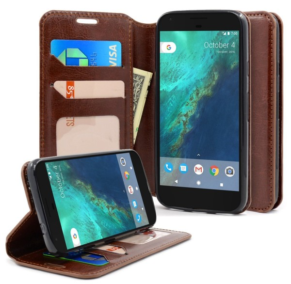 Google Pixel XL Wallet Fold Brown